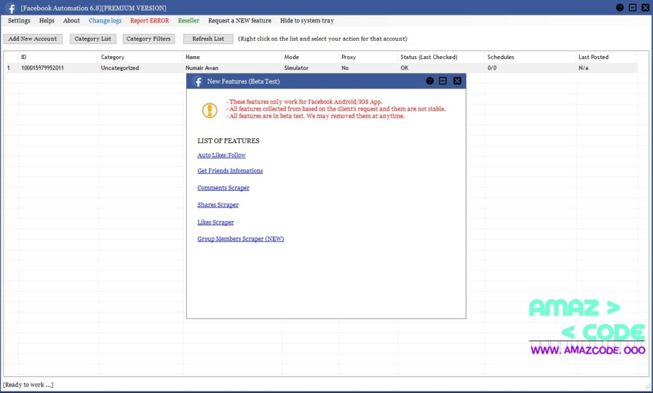 FACEBOOK AUTOMATION 6 8 PREMIUM CRACKED FREE DOWNLOAD