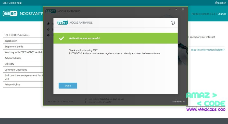 license key for eset nod32 2018