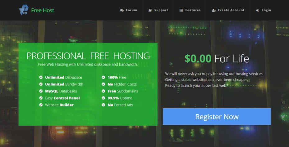 Неограниченное бесплатный хостинг hostland ru отзывы о хостинге