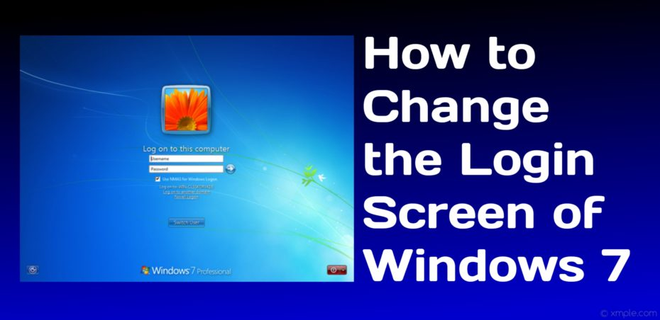How to Change the Login Screen of Windows 7 to Become More Attractive