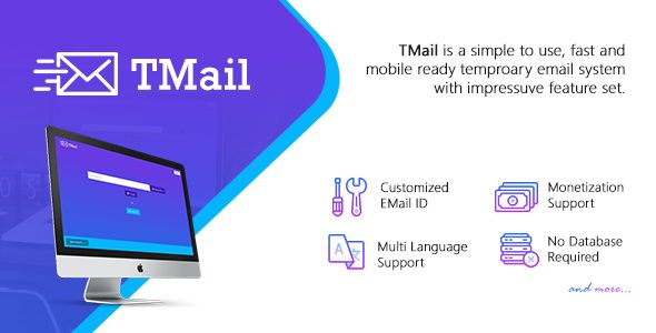 TMail v4.3.6 Nulled - Multi Domain Temporary Email System