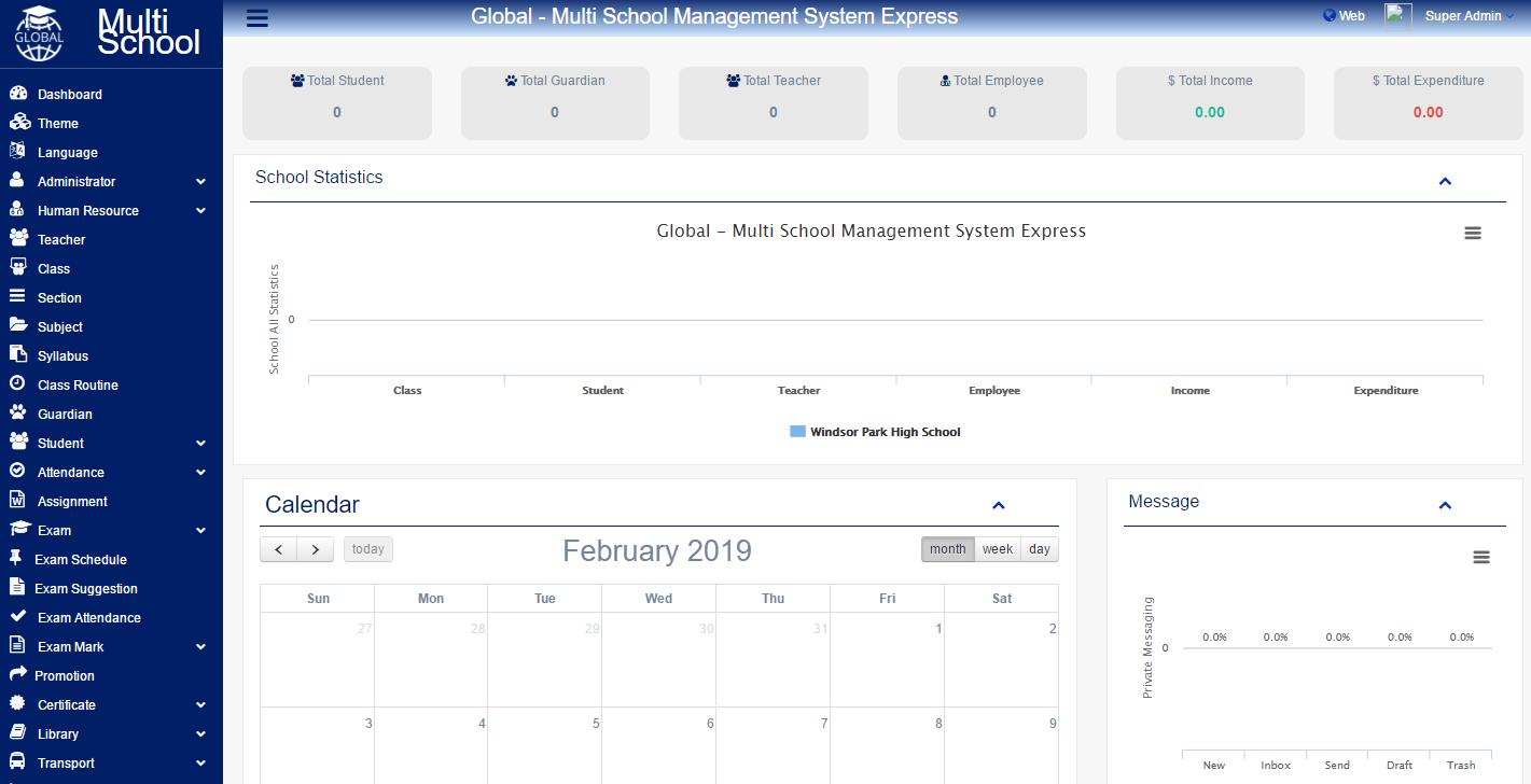 Global V3.0 Nulled - Multi School Management System Express