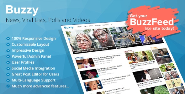 Buzzy v3.0.3 Nulled – Buzzy Viral Media Script Nulled