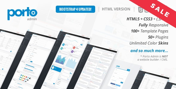 Porto Admin v2.2.0 – Adaptive HTML5 Admin Panel Template