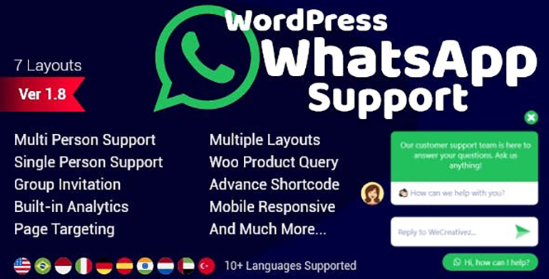 WordPress WhatsApp Support v1.8.3 Nulled – WhatsApp Chat for WordPress