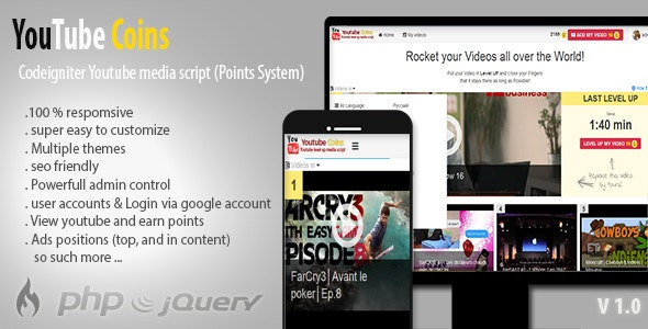 YouTube Coins v2.0.0 – YouTube Coins Nulled