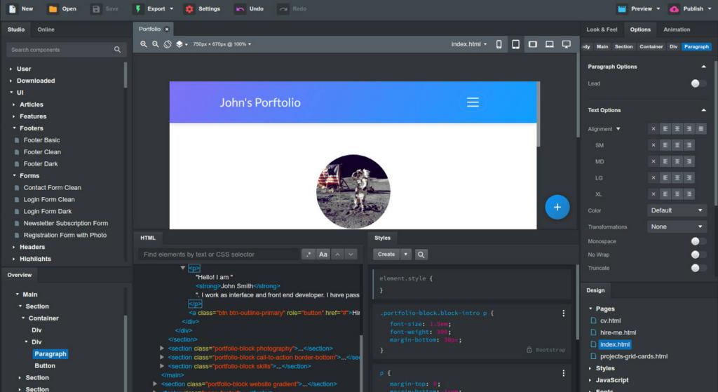 Bootstrap Studio v4.5.8 Cracked