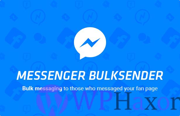 Facebook Messenger Bulksender v2.0