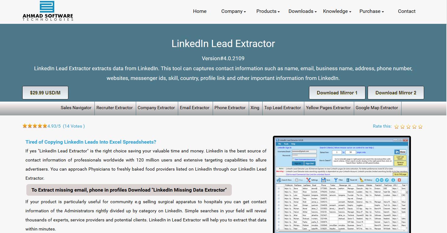 LinkedIn Lead Extractor v4.0.2101 Cracked