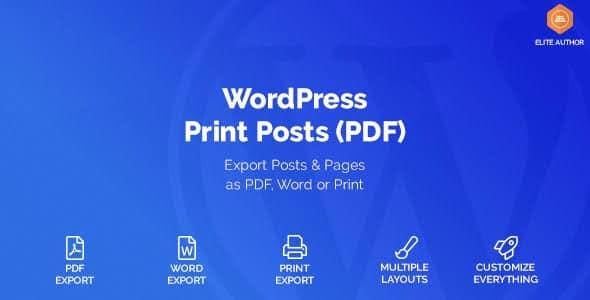 WordPress Print Posts & Pages (PDF) v1.3.0