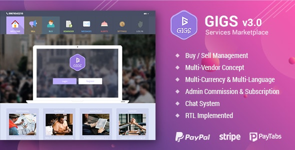 Gigs v3.1 Nulled