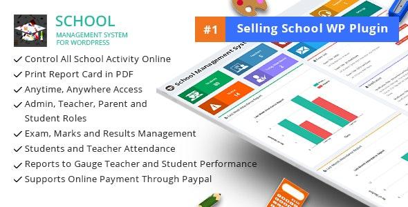 School Management System for WordPress v63.0 Nulled