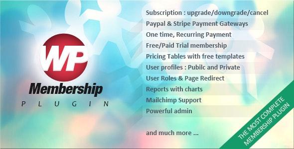 WP Membership v1.4.5 - Paid WordPress Subscription