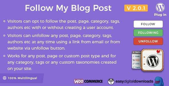 Follow My Blog Post v2.0.1
