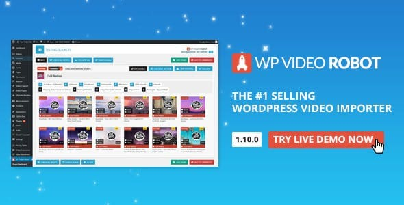 WordPress Video Robot v1.10.0 Nulled