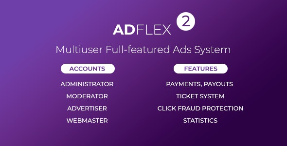 AdFlex v2.0.4 Nulled - Multi User Full-featured Ads System